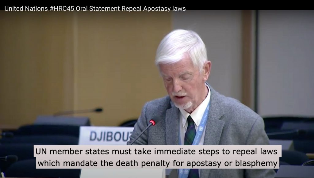 #HRC45 Oral Statement  – Repeal Apostasy laws